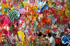 Chinese lanterns display. Mid-Autumn Festival. Penang Island, Malaysia ©Gary Chuan/AP
