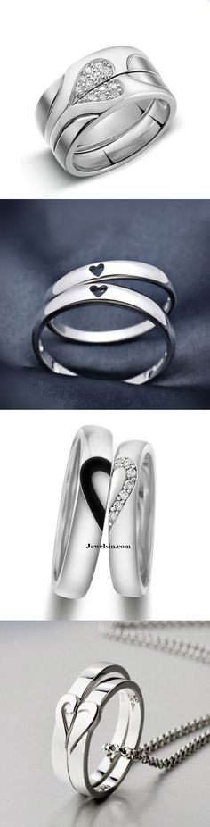 popualr sterling silver his and hers matching lovers promise rings