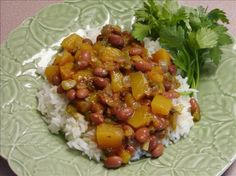 Puerto Rican Beans and Rice(Habichuelas Rosadas) from Food.com: A meatless Puerto Rican dinner, this is full of flavor!!! From Country Living magazine. Add meat, if you like.