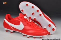 New Nike The Premier FG Cleats Red/White 2014 Soccer Cleats