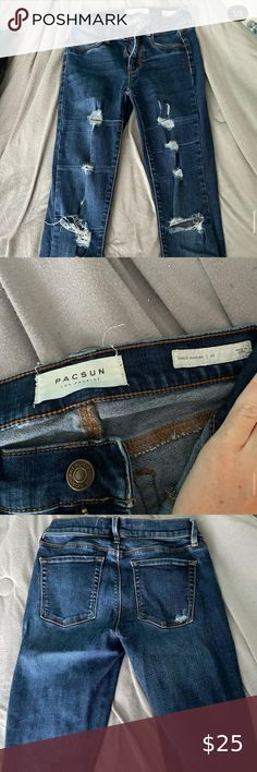Pacsun Jeans very cute lightly ripped pacsun skinny jeans!! very comfortable and well fit! PacSun Jeans Skinny Buy Motorcycle, Motorcycle Outfit, Ripped Jeggings, Black Skinnies, Printed Skinny Jeans, Cropped Skinny Jeans, Light Blue Skinny Jeans, Two Toned Jeans
