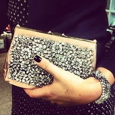 Love the clutch and the mani.