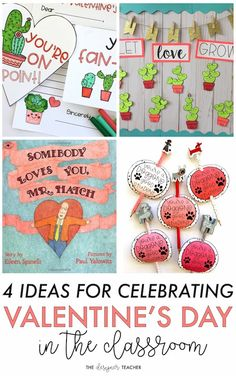 The Designer Teacher: 4 Ideas for Celebrating Valentine's Day in the Classroom #valentinesintheclassroom #classroomvalentinesday