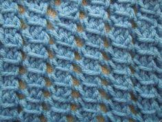 pillar openwork knitting stitch