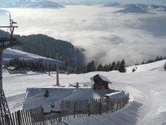 Skiing in Kitzbuhel, Austria