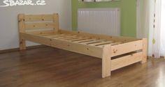 2x postel ze světlého masívu. - obrázek číslo 1
