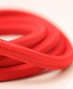 Red smooth fabric cable is one of our most popular styles.