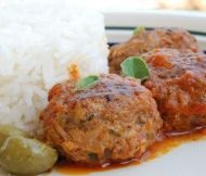 Recipe for Greek Meatballs with a tomato based sauce - serve with pasta or rice