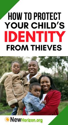how you can protect your child's identity from thieves Identity Theft Protection, How To Protect Yourself, Your Child, Knowing You, Crime, Parents, Children, Dads, Young Children