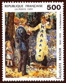 Auguste Renoir «La balançoire» - Timbre de 1991