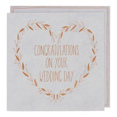 Grey board copper wedding card