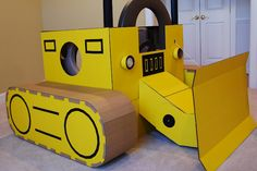 cardboard bulldozer ...my kid would LOVE this