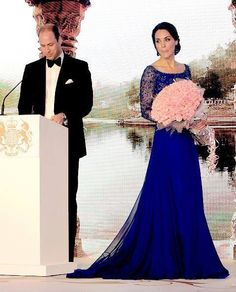 The Duke and Duchess of Cambridge at the gala in Mumbai, India attended by Bollywood Stars 2016