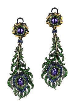 Axenoff Jewellery #peacock earrings