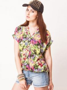 ONLY Collar Top With Elasticated Hem