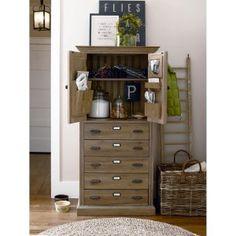 Paula Deen Down Home Paulas Kitchen Organizer Cabinet - Oatmeal Image