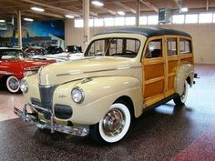 1941 Ford Beige, Super Deluxe Woody Station Wagon...Brought to you by agents at #HouseofInsurance in #EugeneOregon for #LowCostInsurance.