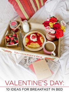 This Valentine's Day, surprise your sweetie with a romantic breakfast in bed. From pancakes, to French toast, your favorite breakfast recipes get a festive makeover for the holiday of love. These ten delicious recipes are sure to make their heart smile. Red Velvet ...