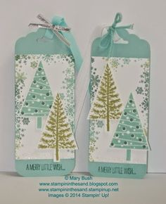 Stampin Up Festival of Trees and Seasonally Scattered stamp sets Christmas card