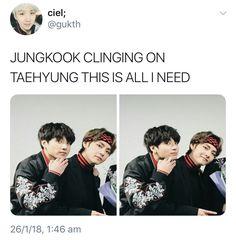 I am jungkook. If I had Tae near me, I would never let go