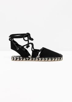 cdf668972222 Other Stories image 1 of Suede Rope Espadrilles in Black Espadrille Sandals