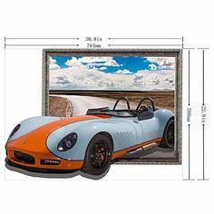 3D De Sports Car Muurstickers Muurstickers - EUR € 23.26