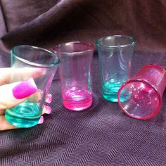 Hey, I found this really awesome Etsy listing at https://www.etsy.com/listing/179887238/bright-green-or-a-hot-pink-shot-glasses