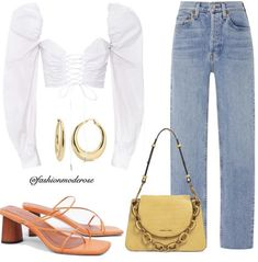 Looks Style, My Style, Types Of Fashion Styles, My Outfit, Evening Dresses, Stylists, Polyvore, Bags, Mood