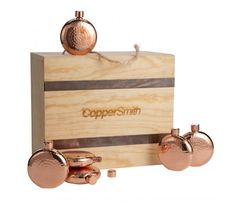 You've likely had a few drinks in the past together, and chances are, you'll be having plenty more. Show your entire squad how much you appreciate their friendship, with a quality handcrafted - discreet flask. Copper Decor, Copper Pots, Kitchen Items, Flask, Squad, Tiny House, Friendship, Weddings, Drinks