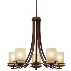 "Hendrik Bronze 24 1/2"" Wide 5-Light Chandelier 