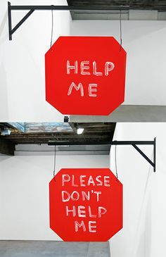 ➰EXPRESS. (I) Help, don't help, David Shrigley