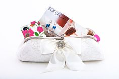 Satin Bow Bridal Clutch by SaraCaccessories on Etsy, $140.00