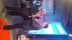 Raffaele Rubinacci e Roberto Basili alla serata inaugurale del Maker Faire 2015