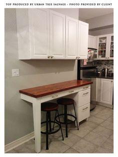 reclaimed douglas fir kitchen island top traditional kitchen