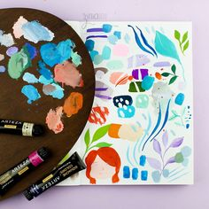 Today I want to share with you my thoughts about the Arteza 60 Color Gouache set ( US Earth Tone Colors, Earth Tones, Watercolor And Ink, Watercolor Paintings, Shades Of Teal, Painting Process, Landscape Illustration, Product Review, Metallic Colors
