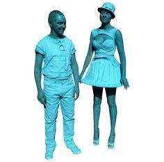 3d blue costumes - DIE MORTAL