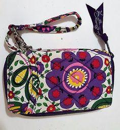 Vera-Bradley-Wristlet-Wallet-Pattern-Viva-La-Vera-5-5-By-3-Inches-Authentic