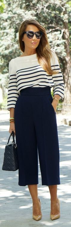 Perfect everyday nautical style for the office!