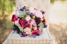 unique bridal bouquet with succulents www.thecphoto.com/