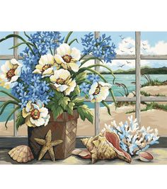 Dimensions Paint By Number Kit Seaside Still LifeDimensions Paint By Number Kit Seaside Still Life,