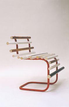 Dagmar Chair 2002 Chair frame, curtain rails 500 × 500 x 750mm, Unique