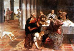 Christ in the house of the Pharisee by @arttintoretto #mannerism