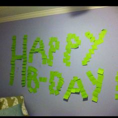 A b-day surprise for my sis coming home:))