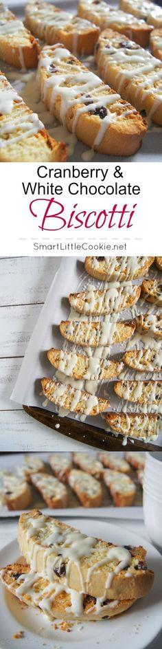 Cranberry & White Chocolate Biscotti | http://SmartLittleCookie.net