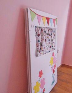 Φτιάξτε το δικό σας παιδικό κουκλοθέατρο εύκολα, γρήγορα και οικονομικά! | Φτιάξτο μόνος σου - Κατασκευές DIY - Do it yourself Classroom Decor, Baby Room, Back To School, Office Supplies, Parenting, Nursery, Frame, Home Decor, Short Stories
