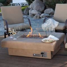 Gas Fire Table.