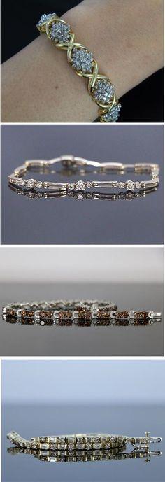 Diamond Tennis Bracelets Collection - Fashion Jewelry - Wedding Jewelry - Trendy Jewelry