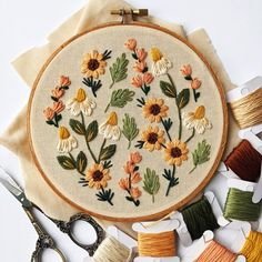 Summer Wildflowers Embroidery Kit DIY embroidery DIY home decor craft kit flower embroidery floral embroidery pattern Embroidery Embroidery Hoop Crafts, Floral Embroidery Patterns, Embroidery Stitches Tutorial, Couture Embroidery, Hand Embroidery Designs, Vintage Embroidery, Embroidery Kits, Hungarian Embroidery, Embroidery Jewelry