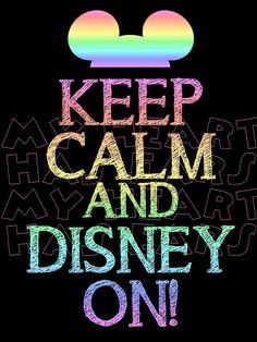 Printable DIY Keep calm and Disney on  Iron on transfer framed art on Etsy, $5.00