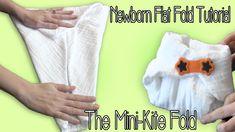 Newborn Flat Fold tutorial- the Mini Kite Fold